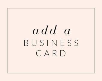 Business Card Design Matching Premade Logo - Business Card Logo Add-On Upgrade