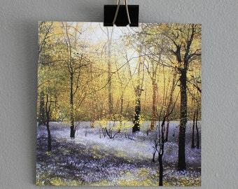 Tree card - 'The Secret Wood' - Fine Art card - Trees - Woodland