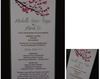 Wedding Invitations, Instant Download or Printed Just For You