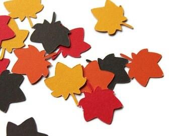 Leaf Confetti, Maple Leaf Confetti, Fall Confetti, Halloween Party, Fall Party Decor, Fall Festival, Leaf Die Cut, Leaf Decor, Party Decor