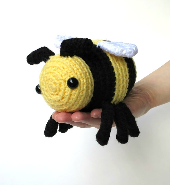 Bee amigurumi patterns - two bumble bee patterns, large ...