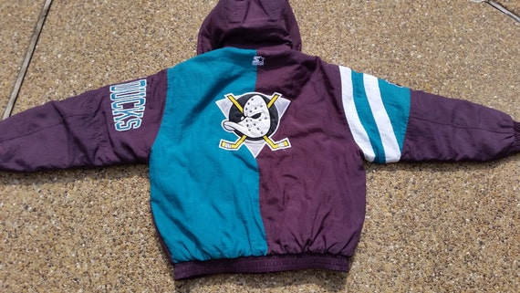 Anaheim Mighty Ducks Starter Jacket Vintage Rare Nhl Parka