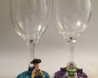 Lego Disney toy story wine glass collection