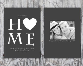 New Home - Moving Announcement - Printable File