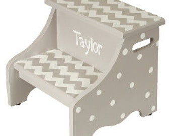 Personalized Chevron Step Stool