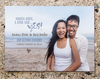 Printable Save The Date, Save The Date, Wedding, Save Our Date, CUSTOMIZED, He Asked She Said Yes!
