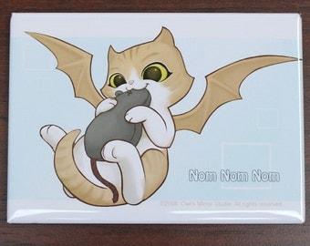 Demon Kitty Nom Nom Nom Magnet