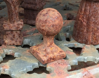 Small Round Cast Iron Finial Set of 3