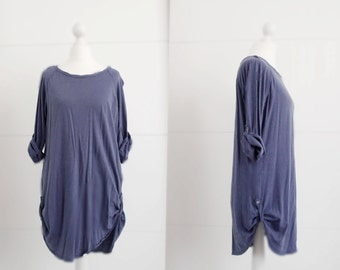 straight blue dress / casual dress women's dress