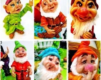 Set Faces 7 Dwarfs / Silicone mould