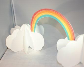 Rainbow 3D Centerpiece