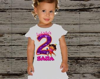 Dora Birthday Dress- Dora the Explorer Birthday Outfit