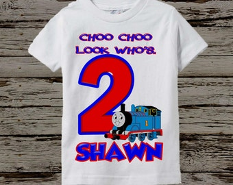 Thomas the Train Birthday Shirt - Thomas the Train Shirt