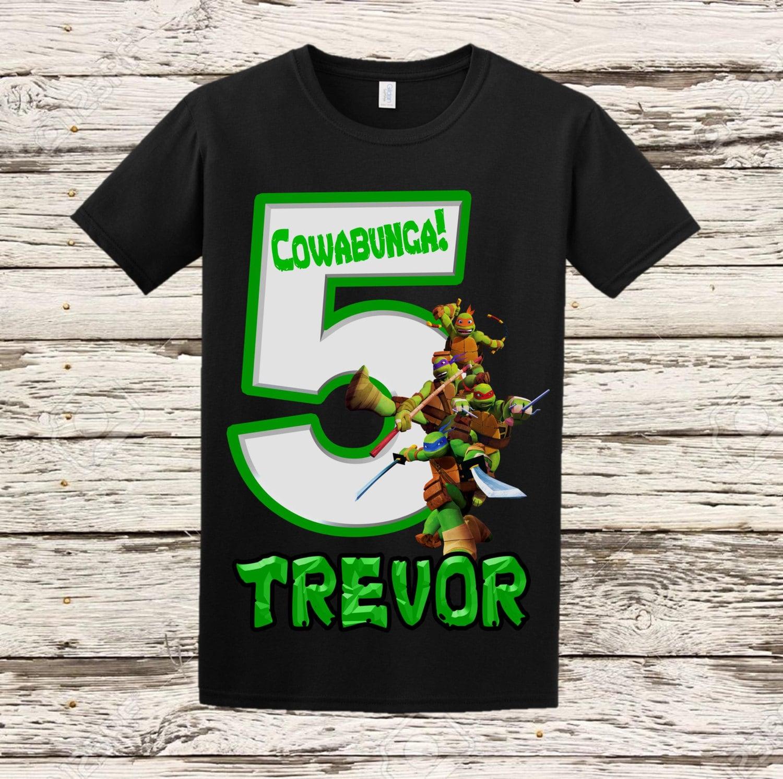 Ninja turtles birthday shirt tmnt shirt for Where can i buy ninja turtle shirts