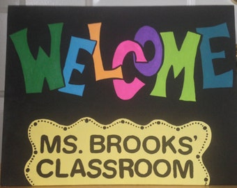 Classroom Decor Welcome Sign