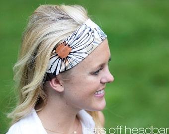 Floral Headband, Headbands for Women, Cute Headband. Romantic Headband. Headbands for Work. Cotton Headband, Floral Head Wrap, Boho Wrap