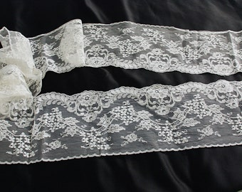 Extra Wide White Rayon Lace