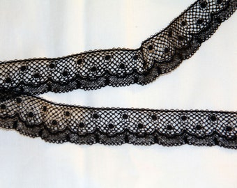 Black 1/2 Inch Wide Lace