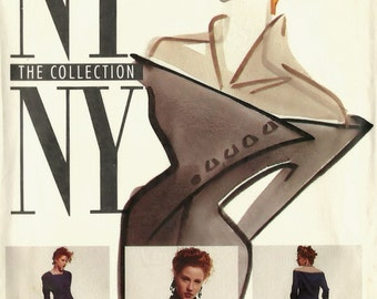 McCall's NY NY The Collection vintage sewing pattern - mod asymmetrical dress - Size 6