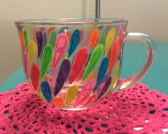 Hand Pained Petal Tea Cup