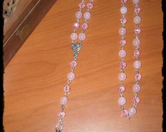 Pagan rosary rose quartz - Rosario pagano in quarzo rosa