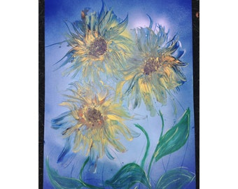 Sunflower Spray Painting