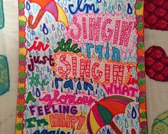 Singin' in the Rain Gene Kelly Art Print