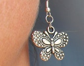 Silver Butterfly earrings Boho earrings Unique butterfly earrings Everyday earrings Butterfly Jewelry Summer earrings Girls teens jewelry