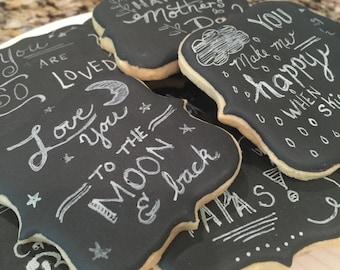 1 doz Chalkboard cookies