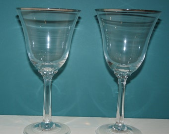 Lenox goblets etsy - Lenox gold rimmed wine glasses ...