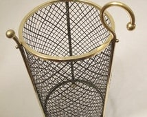 Brass Wire Trash Can