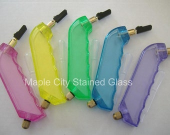 Stained Glass Supplies - Pistol style glass cutter with carbide cutting tip