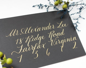 The Sophisticated - Black Envelope Calligraphy