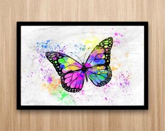Butterfly Watercolor Art