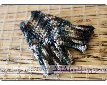 Camo Raegan Gloves, fingerless gloves, wrist warmers