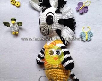 Zeo Zebra gehäkelt crochet Amigurumi deutsch german PATTERN