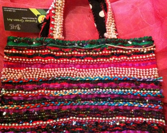 Forever Green Art - Multi-colored Beaded Purse