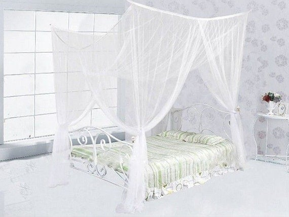 white canopyfour corner canopy bed netting by cornercanopy home styles bedford black king canopy bed home