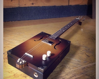 Daddy Mojo Clydesdale four string cigar box guitar