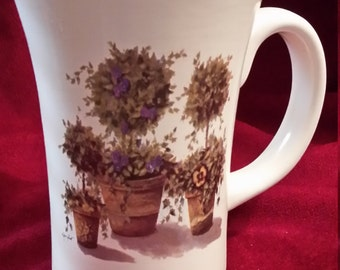 Ceramic Topiary Mug On sale, was 20.00