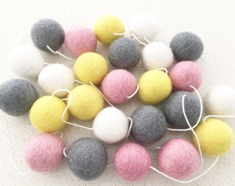 Sherbet Surprise 2m Felt Ball Garland