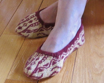 TURKISH BALLERINAS SLIPPERS knitting pattern