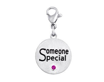 Someone Special Disc Charm With Personalized Birthstone