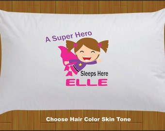 Personalized Super Hero Pillow Case Super Hero Sleeps Here