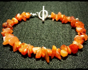 "Carnelian Bracelet ""Rivers of Muspelheim"""
