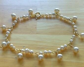 Champagne Pearl Bracelet