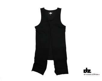 Tank top tshirt Black Shirt Minimal Menswear health goth