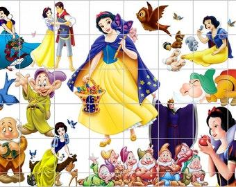 DIGITAL COLLAGE... 35 clipart Blanche Neige (Snow White)... PNG Digital Graphic Clip Art Scrapbook, Invitation