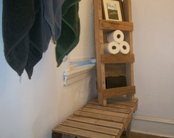 Re-purposed Wood Pallet Bench