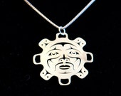 Sun pendant - Northwest Coast Sterling Silver